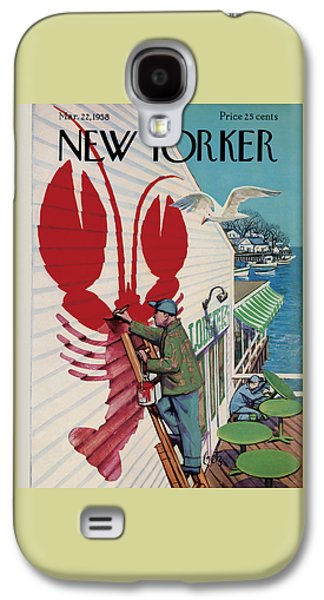 The New Yorker Cover - March 22nd, 1958 Galaxy S4 Case