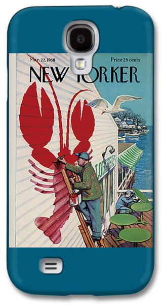 Food And Beverage Galaxy S4 Case - The New Yorker Cover - March 22nd, 1958 by Arthur Getz