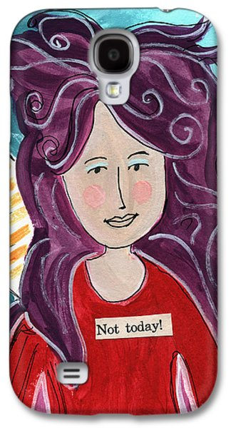 The Not Today Fairy- Art By Linda Woods Galaxy S4 Case by Linda Woods