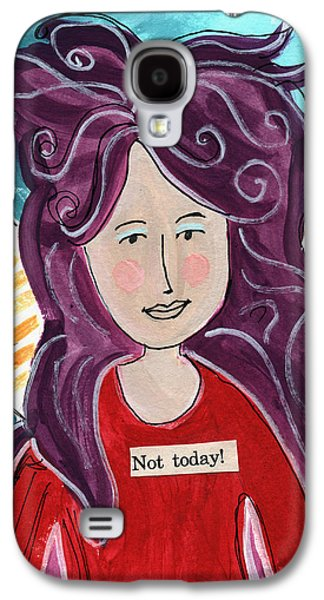 Fairy Galaxy S4 Case - The Not Today Fairy- Art By Linda Woods by Linda Woods