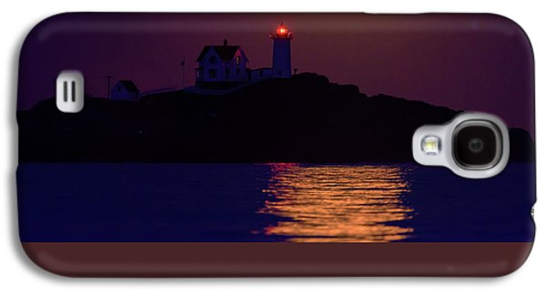 The Nubble And The Full Moon Galaxy S4 Case by Rick Berk