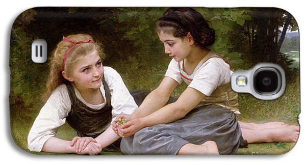 Sisters Galaxy S4 Cases - The Nut Gatherers Galaxy S4 Case by William-Adolphe Bouguereau