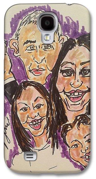 The Obama Family Farwell Tour  Galaxy S4 Case by Geraldine Myszenski