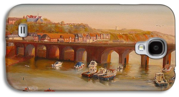 The Old Bridge - Folkestone Harbour Galaxy S4 Case by Beatrice Cloake