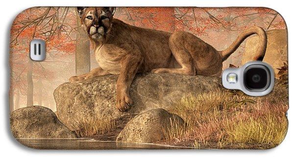 The Old Mountain Lion Galaxy S4 Case by Daniel Eskridge
