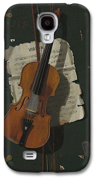 Violin Galaxy S4 Case - The Old Violin by John Frederick Peto