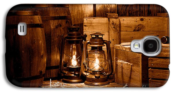 The Old Warehouse - Sepia Galaxy S4 Case by Olivier Le Queinec