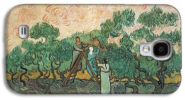 Impressionism Galaxy S4 Case - The Olive Pickers by Vincent van Gogh