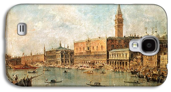The Palace And The Molo From The Basin Of San Marco Galaxy S4 Case by Francesco Guardi