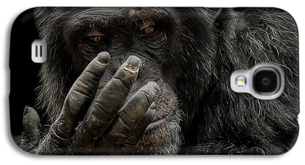 Chimpanzee Galaxy S4 Case - The Palm Reader by Paul Neville