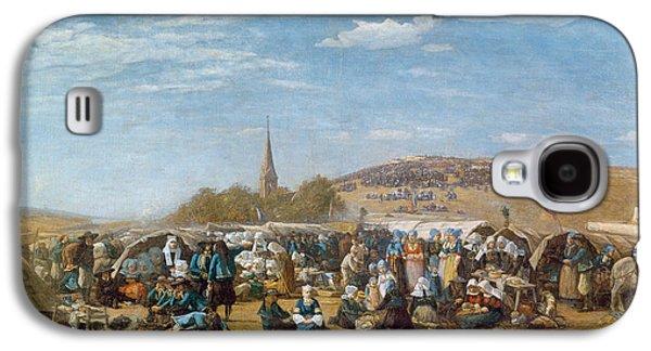 The Pardon Of Sainte Anne La Palud Galaxy S4 Case by Eugene Louis Boudin