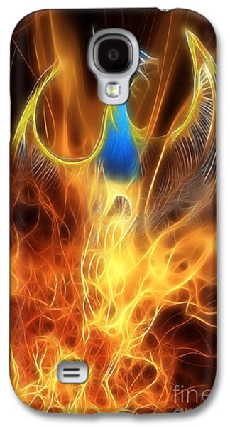 The Phoenix Rises From The Ashes Galaxy S4 Case by John Edwards