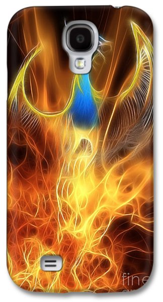 Dragon Galaxy S4 Case - The Phoenix Rises From The Ashes by John Edwards