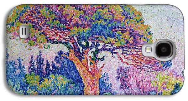 The Pine Tree At Saint Tropez Galaxy S4 Case by Paul Signac