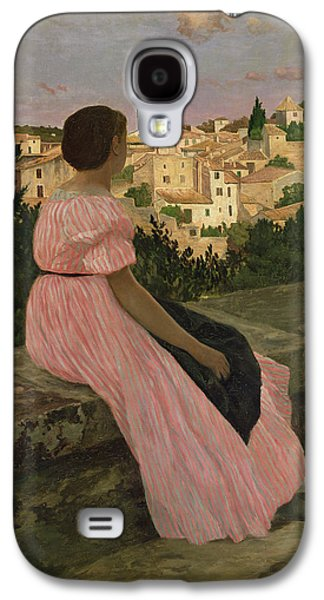 The Pink Dress Galaxy S4 Case by Jean Frederic Bazille