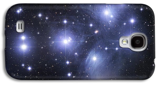 Glow Photographs Galaxy S4 Cases - The Pleiades Galaxy S4 Case by Robert Gendler