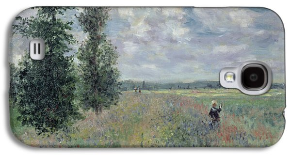 Field. Cloud Paintings Galaxy S4 Cases - The Poppy Field Galaxy S4 Case by Claude Monet