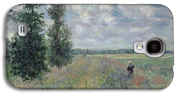 The Poppy Field Galaxy S4 Case by Claude Monet