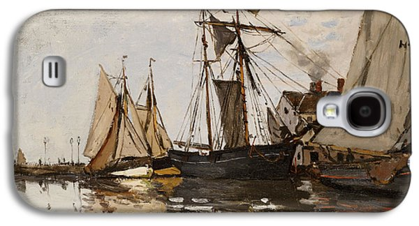 Yachting Galaxy S4 Cases - The Port of Honfleur Galaxy S4 Case by Claude Monet