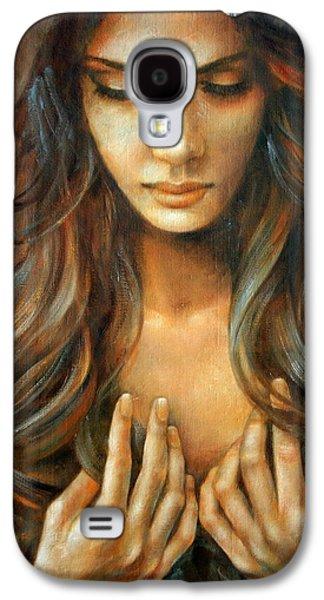 The Prayer Galaxy S4 Case by Arthur Braginsky
