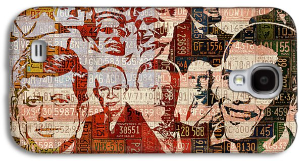 The Presidents Past Recycled Vintage License Plate Art Collage Galaxy S4 Case by Design Turnpike