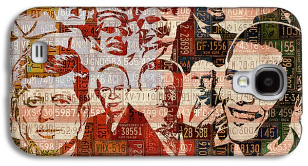 The Presidents Past Recycled Vintage License Plate Art Collage Galaxy S4 Case