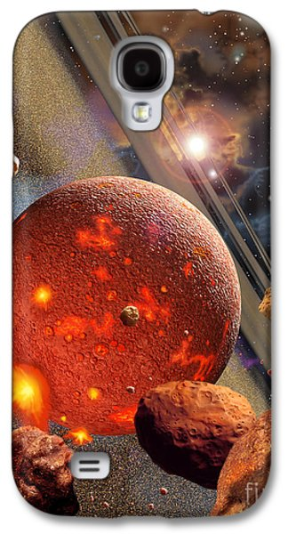 Planetoid Galaxy S4 Cases - The Primordial Earth Being Formed Galaxy S4 Case by Ron Miller