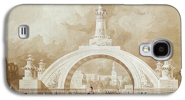 The Proposed Triumphal Arch From Portland Place To Regent's Park Galaxy S4 Case by John Martin