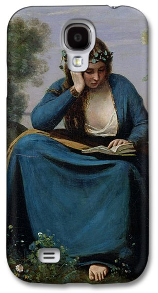 The Reader Crowned With Flowers Galaxy S4 Case by Jean Baptiste Camille Corot