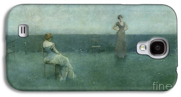 Chair Galaxy S4 Cases - The Recitation Galaxy S4 Case by Thomas Wilmer Dewing