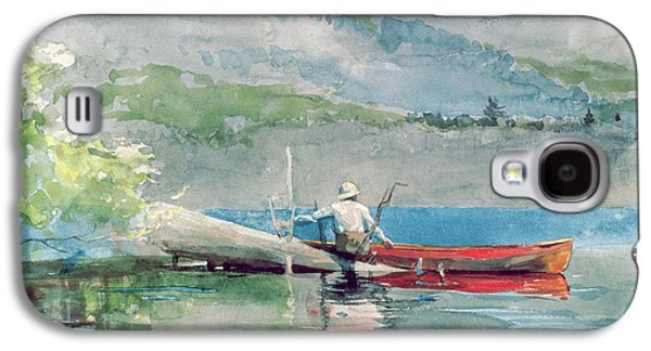 The Red Canoe Galaxy S4 Case by Winslow Homer