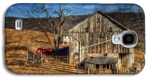 The Red Truck By The Barn Galaxy S4 Case