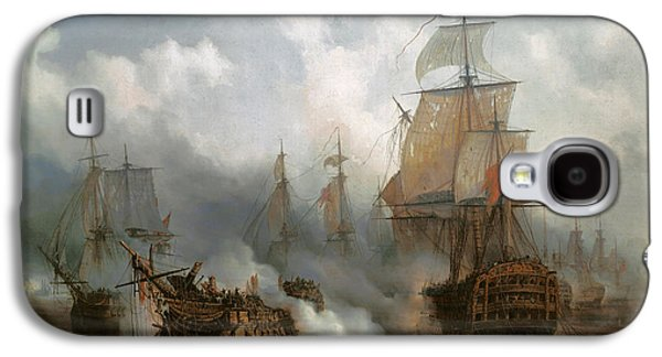 The Redoutable In The Battle Of Trafalgar, October 21, 1805 Galaxy S4 Case by Auguste Etienne Francois Mayer