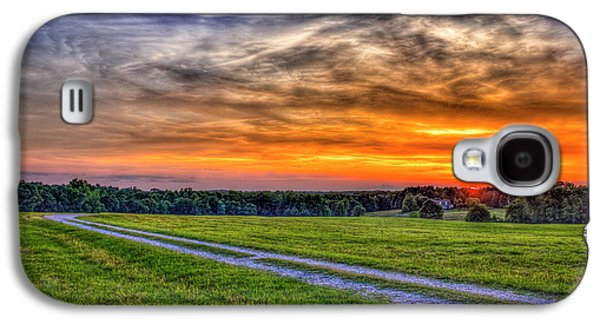The Road Home Sunset  Country Living Art Galaxy S4 Case