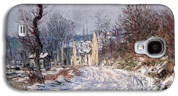 The Road To Giverny In Winter Galaxy S4 Case by Claude Monet