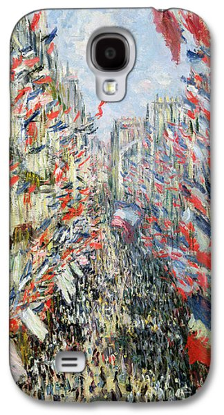 The Rue Montorgueil Galaxy S4 Case by Claude Monet