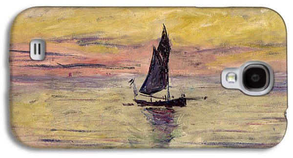 The Sailing Boat Evening Effect Galaxy S4 Case by Claude Monet