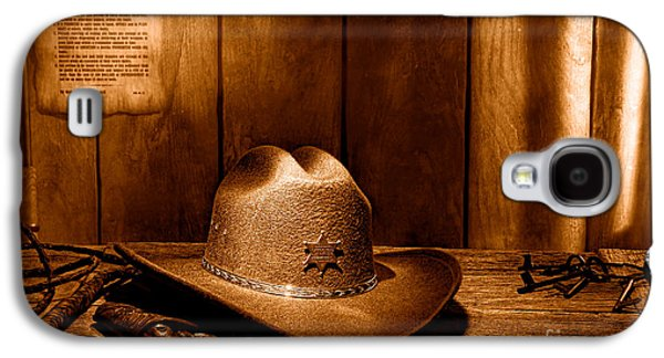 The Sheriff Office - Sepia Galaxy S4 Case by Olivier Le Queinec