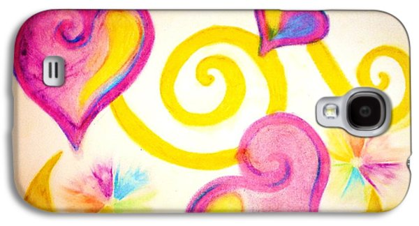 Spiral Pastels Galaxy S4 Cases - The Simple Things Galaxy S4 Case by Chandelle Hazen