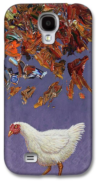 Chicken Galaxy S4 Case - The Sky Is Falling by James W Johnson
