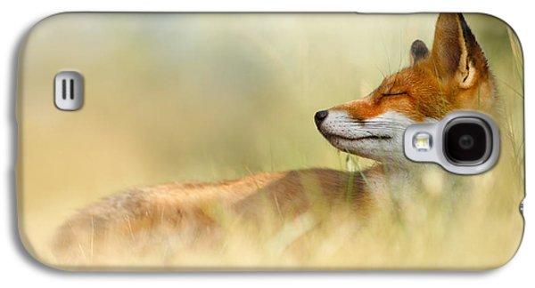 The Sleeping Beauty - Wild Red Fox Galaxy S4 Case by Roeselien Raimond