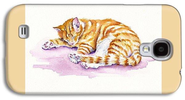 Cat Galaxy S4 Case - The Sleepy Kitten by Debra Hall
