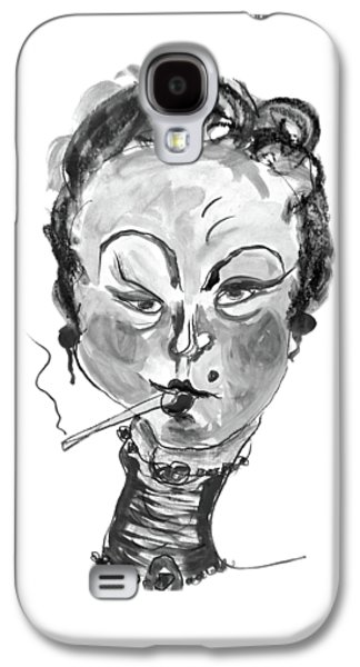 The Smoker - Black And White Galaxy S4 Case
