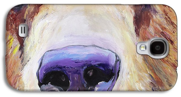Animal Cards Galaxy S4 Cases - The Sniffer Galaxy S4 Case by Pat Saunders-White