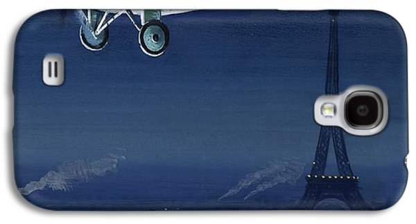 The Spirit Of St Louis Flying Over Paris Galaxy S4 Case by English School