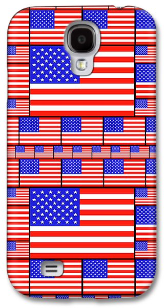 The Stars And Stripes 4 Galaxy S4 Case by Mike McGlothlen