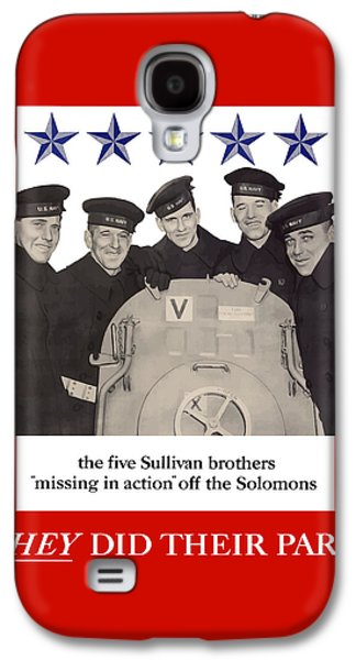 The Sullivan Brothers - They Did Their Part Galaxy S4 Case by War Is Hell Store