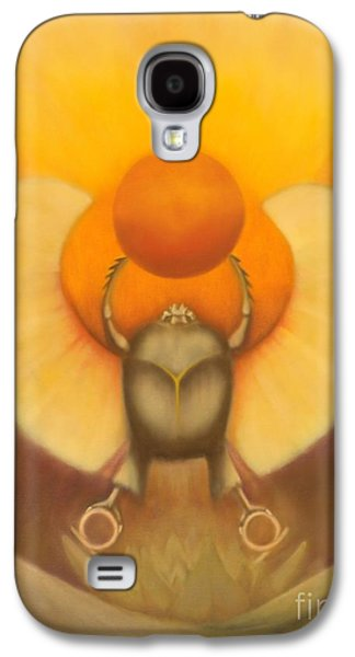 Wicca Paintings Galaxy S4 Cases - The Sun at Night Galaxy S4 Case by Roger Williamson
