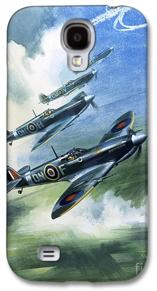 The Supermarine Spitfire Mark Ix Galaxy S4 Case by Wilfred Hardy