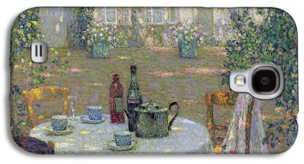 The Table In The Sun In The Garden Galaxy S4 Case by Henri Le Sidaner